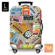 (LittleChili) ถุงหุ้มกระเป๋าเดินทาง - อเมริกันร็อค ไซส์ L