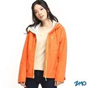 [ZMO] เสื้อคลุมผ้าร่ม กันลม มีฮู้ด แขนยาว สำหรับผู้หญิง สีส้ม