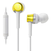 (Audio-Technica)Iron triangle ATH-CKR30iS yellow (YL) earphones for smart phones