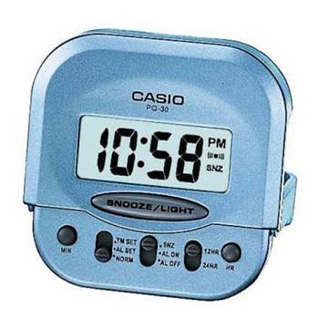 (CASIO)[CASIO] ultra small compact folding travel alarm clock (Blue)