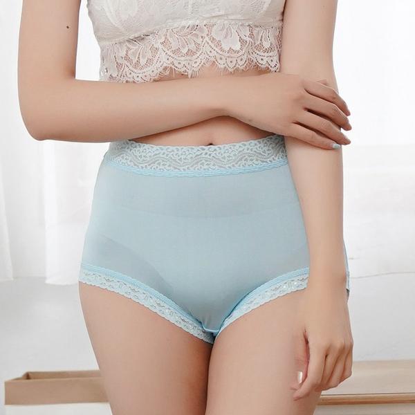 [Chlansilk 阙兰绢] ความสะดวกสบายที่เหมาะกับผิวเคลือบ 40 ขากางเกงชั้นในผ้าไหม 100% -8798 (สีน้ำเงิน)
