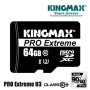[TAITRA] KINGMAX microSDXC 64GB C10 UHS-1 PRO Extreme U3 High-Speed Memory Card (Comes with Card Adaptor)