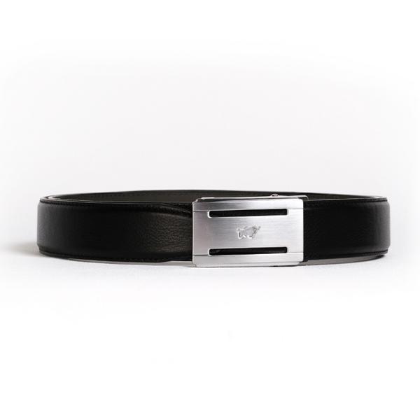 (BRAUN BUFFEL)[BRAUN BUFFEL German Golden Bull] The ultimate taste gentleman automatic buckle belt (silver)