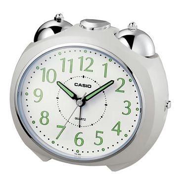 (CASIO)[CASIO] streamlined pointer Desktop Alarm Clock (White)