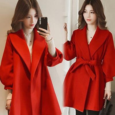 【K.W.】KMM1191 เสื้อโค้ทตัวยาว สำหรับฤดูใบไม้ร่วงและฤดูหนาว