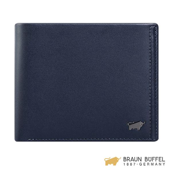 (Braun Buffel)[BRAUN BUFFEL] Android Series 8 Card Holder - Navy Blue BF312-313-MAR