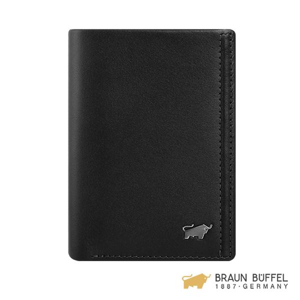 (Braun Buffel)[BRAUN BUFFEL] Android Series 4 Card Holder - Space Black BF312-403-BK