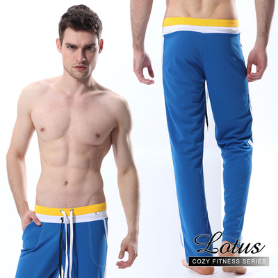(LOTUS)[LOTUS] sports casual comfortable breathable home pants - blue MD4A7-BL