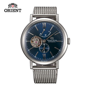 (ORIENT)ORIENT STAR Oriental Star OPEN HEART series of gentlemen small hollow mechanical watch steel section WZ0151DK blue -40.0 mm