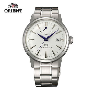 (ORIENT)ORIENT STAR Oriental Star CLASSIC series of classic power storage mechanical watch steel section SEL05003W white -38.5 mm