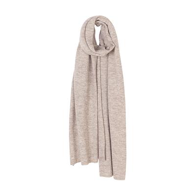 (Elvang)Elvang 60x190cm Nordic Oslo series plain monochrome ultra-light alpaca scarf - 2018 autumn and winter sample (morning sand color)