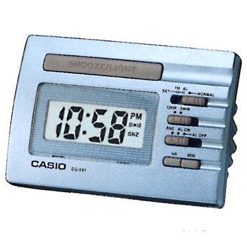 (CASIO)CASIO digital compact electronic alarm clock - blue