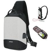 [2WY] กระเป๋าสะพายหลัง กระเป๋าคาดอก กันน้ำ USB