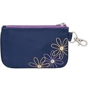 (TRAVELON)TRAVELON RFID seven flower zipper protection Purse (blue)
