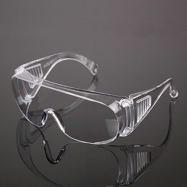 Single-use anti-sputter goggles for experiment (3 in)