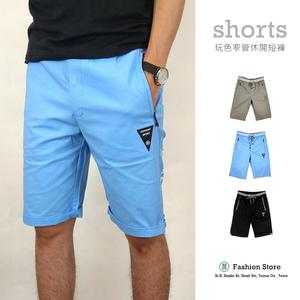 [Myj] กางเกงขาสั้นสบาย ๆ ‧กางเกงขาสั้นเกาหลี‧กางเกงขาสั้นธรรมดา‧กระเป๋าซิป‧กางเกงขาสั้นเด็ก‧กางเกงขาสั้นห้าตัว‧หลายขนาด‧กางเกงยืด‧กางเกงขาสั้น L ~ 3XL