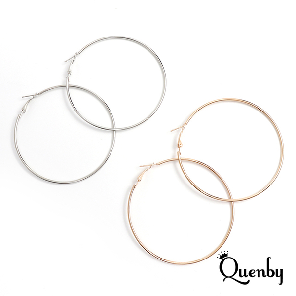 (Quenby)Quenby European and American classic wild big circle earrings / ear pins