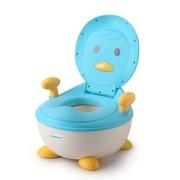 โถสุขภัณฑ์สำหรับทารกเพนกวินอุณหภูมิ - สีน้ำเงิน