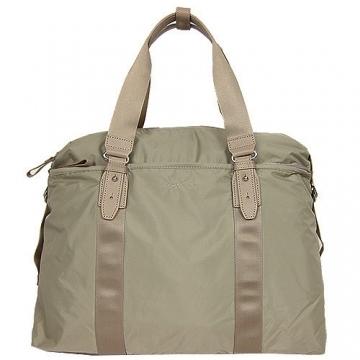 (agnes b)Agnes b. Buckle light nylon big travel bag (large / khaki)