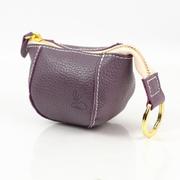 กระเป๋าใส่เหรียญหนัง (สีม่วง)