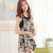 (Isabella)【Isabella】printing butterfly pattern vest A121