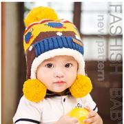 Baby Bear Cubs earmuffs plus velvet knit warm hat