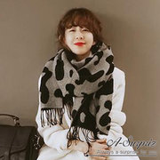 (A-Surpriz)A-Surpriz Cute cow totem double-sided thick scarf
