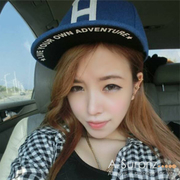 (A-Surpriz )A-Surpriz H letter wool baseball cap (casual blue)