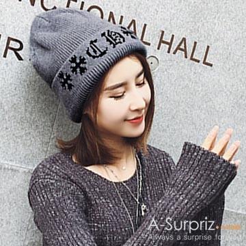A-Surpriz หล่อหมวกขนสัตว์ปักไฟฟ้า (สีเทา)