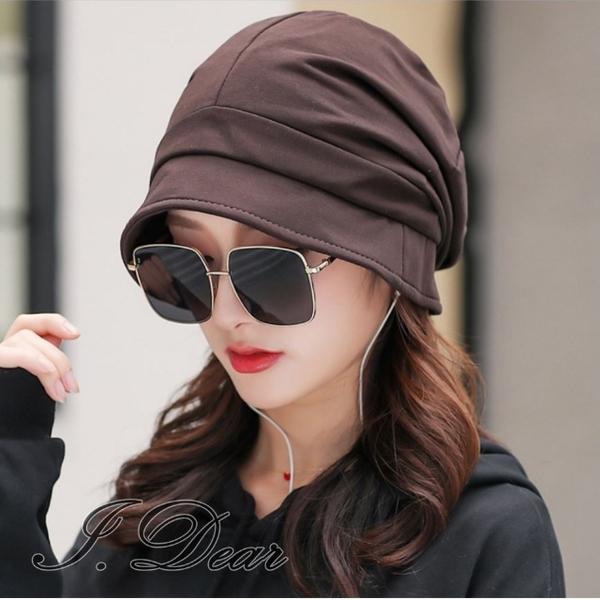 (I.Dear)[I.Dear] Japanese four seasons wild face small face pile octagonal hat small face hat (coffee color)