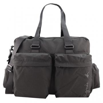 (agnes b)Agnes b. Signature version of canvas big travel bag (black)