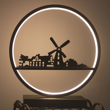 Creative home LED bedside lamp dimmable bedroom night light modern minimalist art decoration furnishings atmosphere lamp birthday gift - windmill low