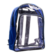 [TAITRA] Two-Layer Transparent Dust-Free Backpack - Sapphire