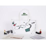 LACOSTE LARGE TOTE BAG (White MULTI)