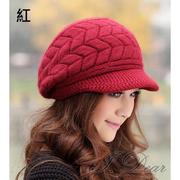 (I.Dear)[I.Dear] Korean twisted braided rabbit fur cap (6 colors)