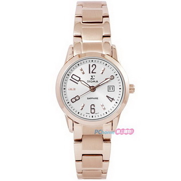 (SIGMA)[SIGMA] simple fashion sapphire mirror fashion women's watch 88023L-RG rose gold 26mm affordable affordable good choice