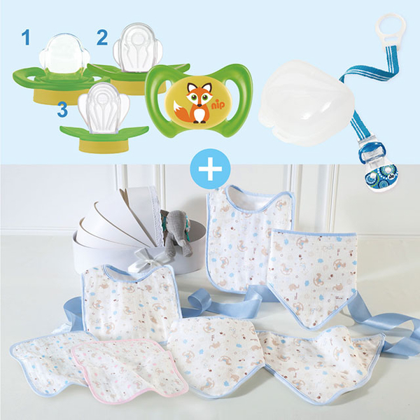 (nip)Nip tooth fairy pacifier growth group (including square bib) - green