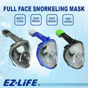 【 EZ-LiFE 】 SILICONE FACE MASK SNORKELING # 23C3256