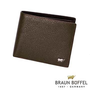 (BRAUN BUFFEL)[Germany] BRAUN BUFFEL Taurus CHUCHO Chucho small coin purse wallet card Series 4 (Cocoa)