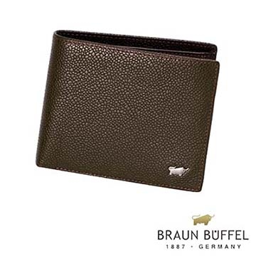 (BRAUN BUFFEL)[Germany] BRAUN BUFFEL Taurus CHUCHO Chucho small transparent window series 12 card wallet (Cocoa)