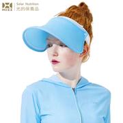 [后益 HOII] หมวกกันแดดแบบพับเก็บได้หน้าใส★ UPF50 + กันแดดป้องกันรังสี UV ผ้าเย็นประสิทธิภาพขั้นสูงแสง