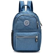(I.Dear) [I.Dear] ชายและหญิงแฟชั่นไนลอนกันน้ำน้ำหนักเบาซิปไหล่กระเป๋าเป้สะพายหลังกระเป๋าใบเล็ก (BG104 สีเทาสีน้ำเงิน)