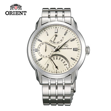 (ORIENT)ORIENT STAR EXCELY STAR RETROGRADE SERIES Classic Week Backstepping Mechanical Watch Steel Band SDE00002W White - 39.5 mm
