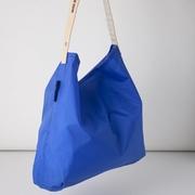 (JULY NINE) กระเป๋าสะพายไหล่แบบพับเก็บได้ (สีน้ำเงินแซฟไฟร์)