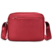 [I.ear] แฟชั่นเกาหลีทั้งชายและหญิงเดินทางไนล่อนน้ำหนักเบากันน้ำกระเป๋าสะพายกระเป๋า (BG88 ไวน์แดง)