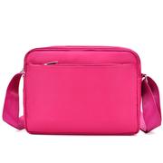 [I.ear] แฟชั่นเกาหลีทั้งชายและหญิงเดินทางไนลอนแสงป้องกันการสาดกระเป๋าสะพายกระเป๋า (BG88 สีชมพู)