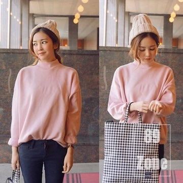 (89zone)89zone Korean version of the East Gate candy color T-shirt