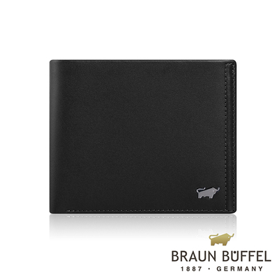 (BRAUN BUFFEL)[BRAUN BUFFEL] German Taurus Andrews Series 4 Card Change Pocket Wallet (Space Black)