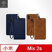 Metal-Slim Xiaomi Mix 2s Suya หัวเข็มขัดแม่เหล็กแขวนซองหนัง TPU