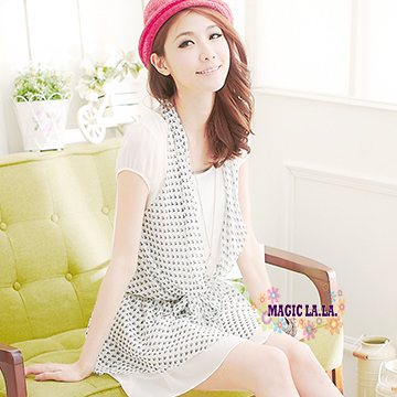 (Isabella) 【】 Isabella A163 ปลอมสองชิ้นชุดชีฟองสายสะพาย (เรือใบเล็ก)
